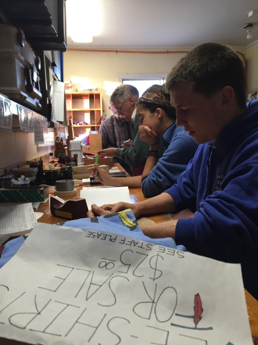 Jeff, Kiah and David hard at work